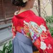 31.3.25出張着付は堺市美原区、東区、堺区、富田林市の4件、女袴・振袖・訪問着の着付&ヘアセットでした。