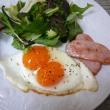 二黄卵で朝ごはん