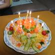 ちらし寿司ケーキでお祝い