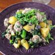 菜の花とサルシッチャの炒め物