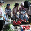 2018年8月11日 里山.com スイカ・カボチャ収穫 ジャガイモ餅試食