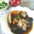 ナスとピーマン、オクラ、、かぼちゃ、高野豆腐の煮物