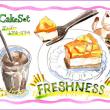 フレッシュネスバーガー・マンゴーケーキ