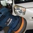 トヨタIQ車検整備とヘッドライト清掃してコーティング