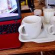 コーヒーとヨーグルトとお茶