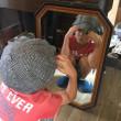 古道具屋さんでステキな鏡を買いました