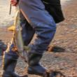 初秋の風物詩、鮭釣り