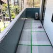 岡山市北区の住宅でベランダ手すりのアルミ笠木撤去