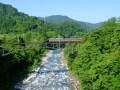 富山地方鉄道を撮り鉄しました(千垣橋梁と有峰口駅)