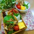 生姜焼き弁当と肉外食 らん月とグラスコート
