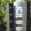 大玉タンカンを作るためにDIYの簡易積算降雨計を設置。
