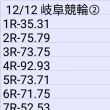 12/12 岐阜競輪②