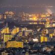 丸山公園から夕景と夜景(シグマ60-600で撮る)
