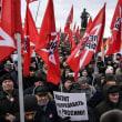 北方領土返還に反対、モスクワで数百人が抗議