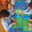 みどり・すみれ 4歳児 松茸・粘土