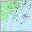 4月18日 アメダスと天気図。