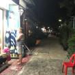 サイケオビーチから夜歩いた