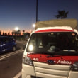 浜松SAの夜明けと中京競馬場