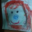娘が私を描いてくれる