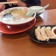 長男と2人でラーメン食べてきました 純豚骨ラーメン鶯(筑紫野市)