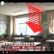 あわや大惨事 小学校の教室で天井の一部が落下。モルタル重さ50キロが落下。。 生徒は体育の授業中で無事 岡山県倉敷市の第二福田小学校
