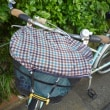 自転車のかごカバー修理。