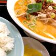 辛み麺 ( 担々麺 ) + ライスを頂きました。 at 元祖紙やき ホルモサ