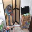 介護予防対策  浴室の片開き扉を折れ戸に取り替えました