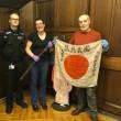 英Peterlee市民宅から日本兵の旗と刀