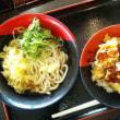 伊予製麺桜井店の照り焼き鶏天丼+ぶっかけうどんの丼セット