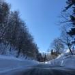 凍てつく道の上から
