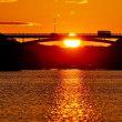 陽の入を前に色濃い夕景 (賢島 夕陽が丘)