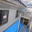 岡山市北区撫川での蔵改修現場でしっくい下地完了