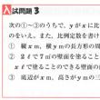 中学数学・1次関数・2次関数 3 富山県・北海道・高校入試問題