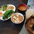 秋の菜の花ときのこご飯