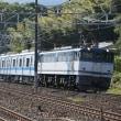 山崎駅で写した小田急3000系甲種