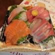 刺身盛合せ・しめ鯖de手巻き寿司&イカ唐揚げ