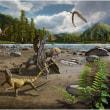 足跡の化石が、1億1000万年前のトカゲも二足走行を示唆。