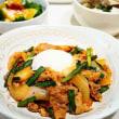 ♪豚キムチ&なすと豆腐のピリ辛スープ♪