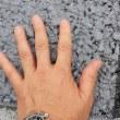 ヒートアイランド対策の遮熱性舗装道路