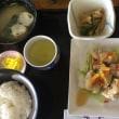 8月19日の日替り定食(550)は、鶏の塩唐揚げ、りんごと柚子胡椒のソース です。