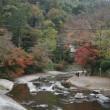 紅葉を求め、叡山電車新型車両「ひえい」に乗って、八瀬比叡山口へ。