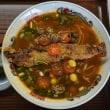 18492 ラーメンの万里@富山 11月30日 魚の排骨もありですね!しかも極上スープにメロメロ!「さんまの排骨麺」