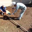 ハンドオーガーによる人力井戸掘削 半日で10m掘りました。@世田谷 #井戸掘り