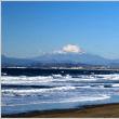 片瀬西浜海岸からの富士山