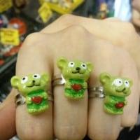 みどりのねずみちゃん指輪