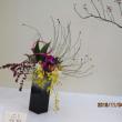 総合展にてお花を生けました