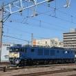1月21日撮影 南松本にてEF64-1028(原色)+1046(広島更新色)号機重連 その2
