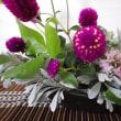 花アレンジ✿葉色を楽しむ小品