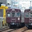 阪急 野踏切(2012.8.4) 3031普通、3030回送 運行標識板並び